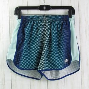 PINK V.S. Ombre Blue/Green Running Shorts S